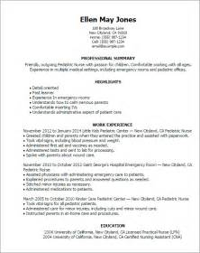 Pediatric Resume Objective Professional Pediatric Templates To Showcase Your Talent Myperfectresume