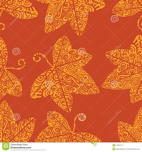 tribal pattern leaf tribal tattoo pattern ivy leaf stock vector image 43464777