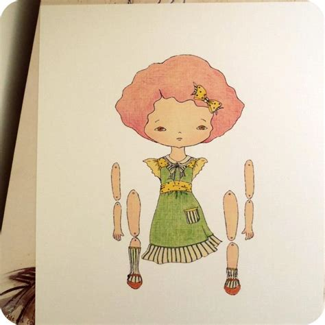 free printable jointed paper dolls raspberry articulated paper doll print on luulla