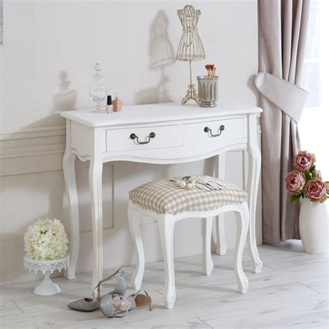 shabby chic bedroom vanity white wooden dressing table stool shabby french chic