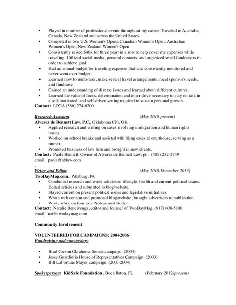 Relations Resume by Government Relations Resume