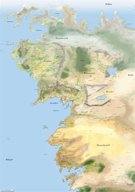 middle earth map peoples of middle earth 1200x1697 mapporn