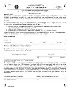 resale certificate request letter template 2015 2017 form sc dor st 8a fill printable