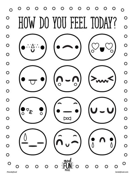 feelings free printable coloring page honest to nod