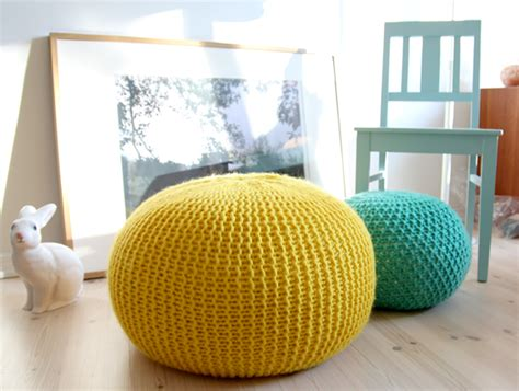 How To Make A Pouf Ottoman 10 Tutorials For Diy Floor Poufs And Ottomans Apartment Therapy