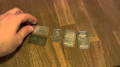 1 Ounce Silver Bar Size by Silver Bullion Bug 4 Different 1 Ounce Silver Bars