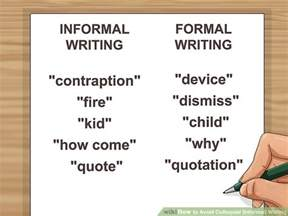 Informal Business Letter Definition How To Avoid Colloquial Informal Writing With Exles