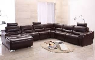 Large Modern Sectional Sofas Large Modern U Shape Reclining Sectional Sofa