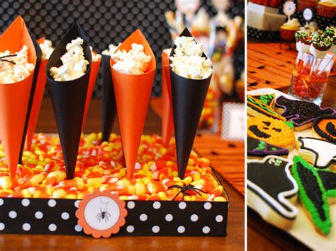 halloween themed desserts halloween dessert table treat cones diy hostess with
