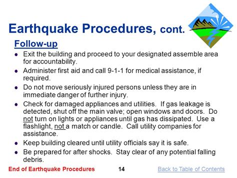 earthquake procedure business and information technology education ppt video
