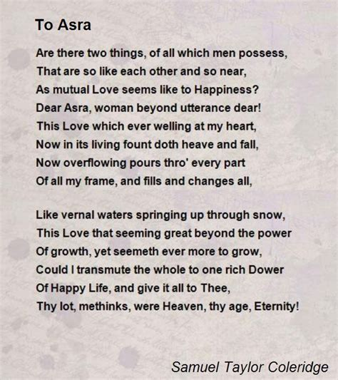 libro poems of the decade samuel taylor coleridge poems to asra poem by samuel taylor coleridge poem hunter samuel