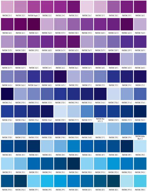 pantone color blue pms color chart