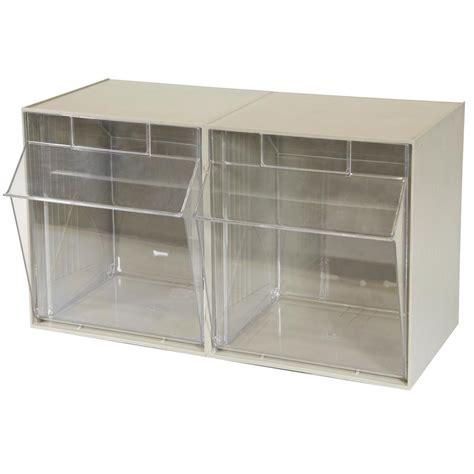 organization bins akro mils tiltview cabinet 2 bins 30 lb capacity storage