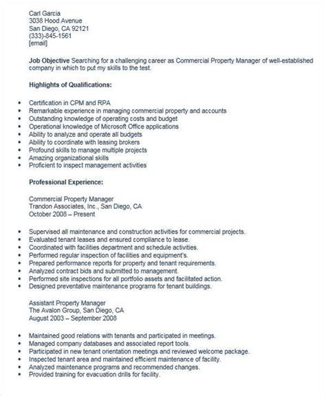 Commercial Property Manager Sle Resume by Commercial Property Manager Resume 28 Images Gestionnaire De L Immeuble Exemple De Cv Base