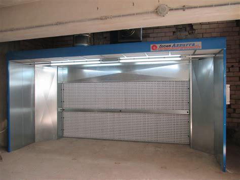 cabina verniciatura cabina di verniciatura a secco mod carbo tecno azzurra