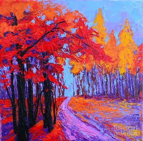 impressionist landscape painting road within enchanted forest series modern