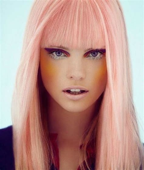 coral hair color coral pink hair color nail styling