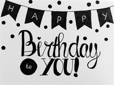 Word Vorlage Happy Birthday handlettering happy birthday font astic karten geburtstage und handgefertigte