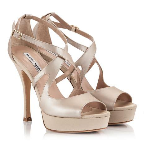 beige high heel sandals fratelli karida beige leather crossover peep toe high heel