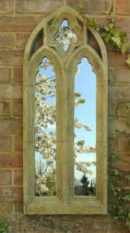 gothic arch outdoor stone effect mirror