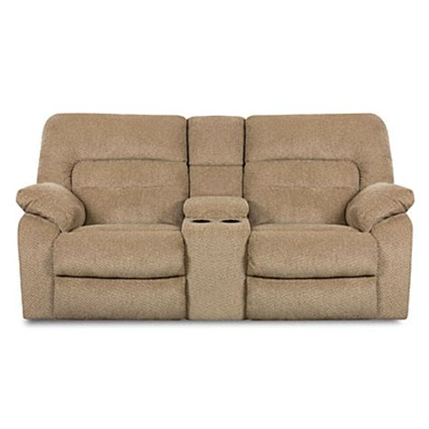 Simmons Reclining Loveseat by View Simmons 174 Columbia Reclining Console Loveseat