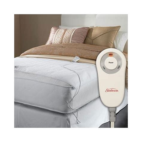 electric bed warmer sunbeam foot cuddler warmer electric heated mattress pad twin full ebay