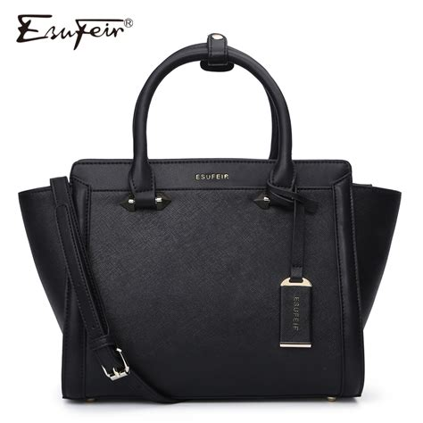 3 5 Bag Fashion 2948 esufeir brand genuine leather handbag cross pattern cow leather shoulder bag fashion