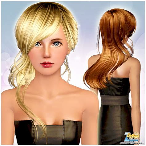 side ponytail sims 3 side ponytail with bangs id 000051 by peggy zone sims 3