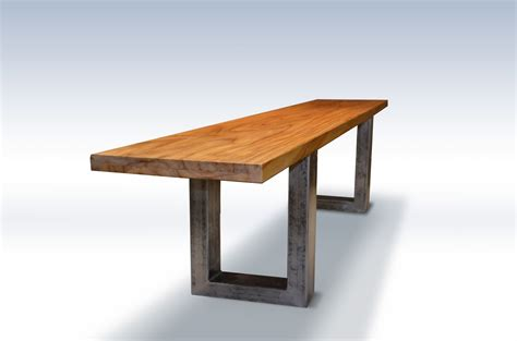wood bench metal legs buy hand made modern teak bench with metal legs made to