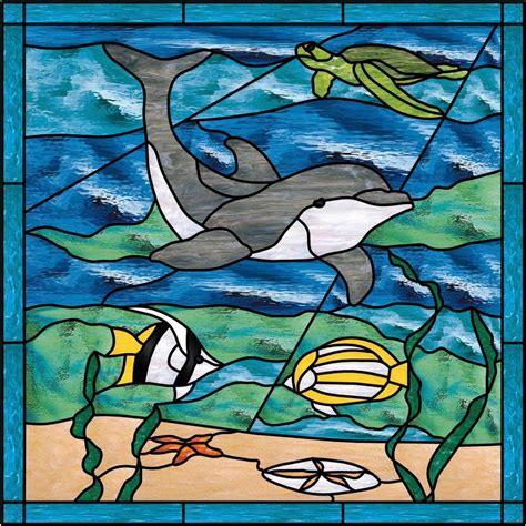 stained glass turtle l stained glass dolphin sea turtle stained