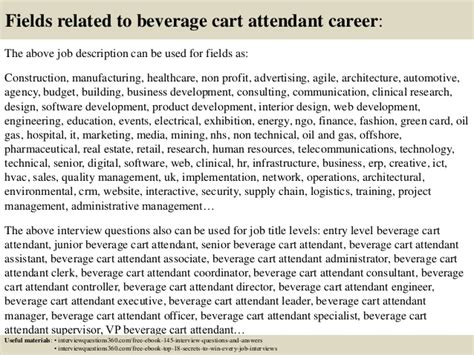 Golf Cart Attendant Cover Letter by Top 10 Beverage Cart Attendant Questions And Answers