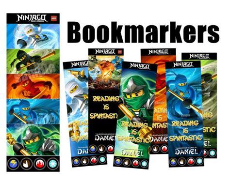 printable lego bookmarks set of 7 ninjago bookmarkers ninjago by