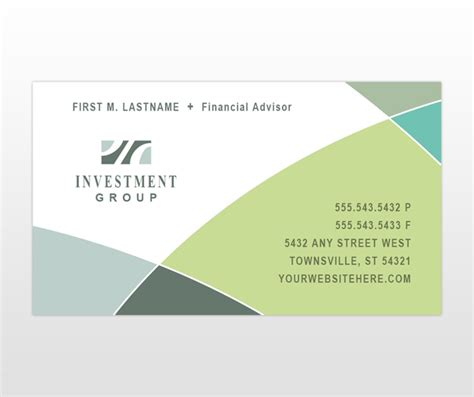 financial business card template neatfile