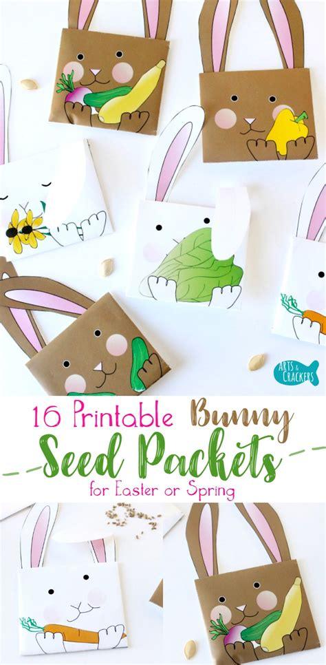 easter games packet printable games printable bunny seed packet envelopes for easter or spring