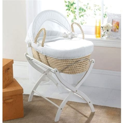White Cot Bed Duvet Cover Moses Baskets