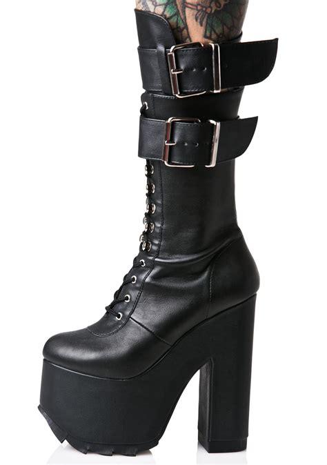 demonia platform boots demonia torment platform boots dolls kill