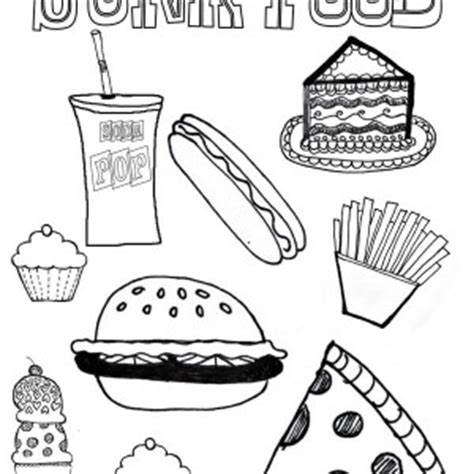 junk food coloring pages related keywords suggestions