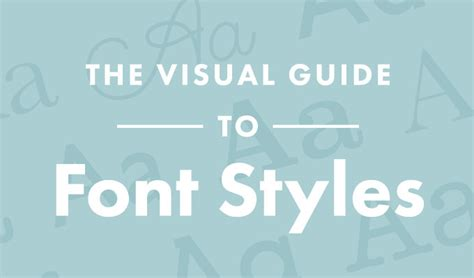 font design manual infographic the visual guide to font styles designtaxi com