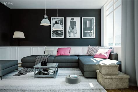 white and black living room dramatic black ideas for painting a living room ifresh