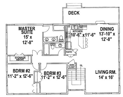 Split Level Ranch Floor Plans Best 25 Split Level House Plans Ideas On Pinterest House Design Plans Design Floor Plans And