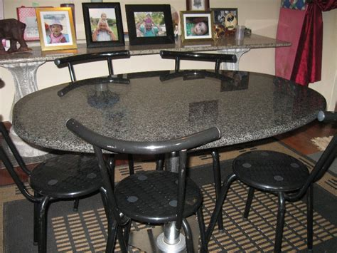 black granite top kitchen table granite dining table and luxurious atmosphere at home