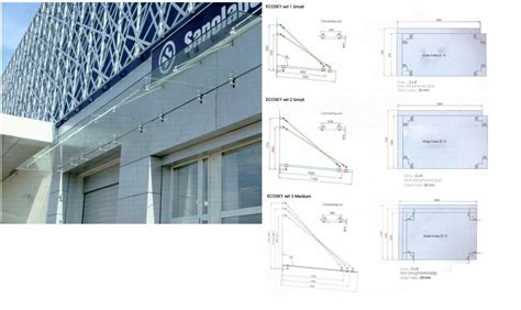Glass Awning System by Ecosky Glass Canopy System Andrew Vassallo General Trading