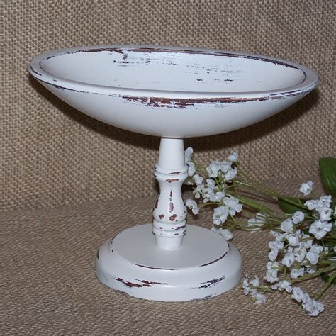 White Pedestal Bowl wood pedestal bowl white pedestal bowl wood compote