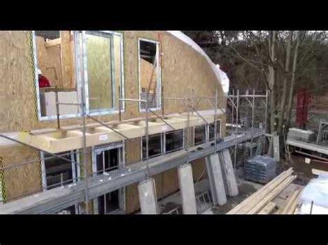 prefabbricate romania holz haus construction tetto curvo di legno
