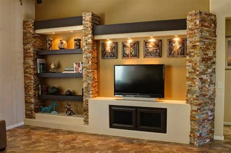 Living Room Entertainment Center Ideas Custom Entertainment Centers Custom Drywall Entertainment Centers Ideas For The House