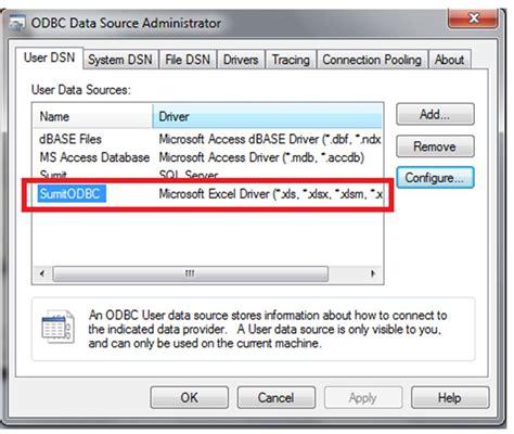 git tutorial exle vba excel make excel file as odbc source database using