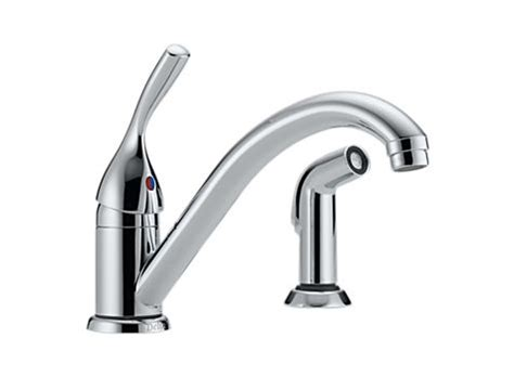 delta classic single handle kitchen faucet delta 175dst classic single handle kitchen faucet with
