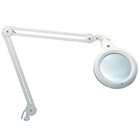 top magnifying glass with light daylight 7 in white ultra slim magnifying l u22020 01