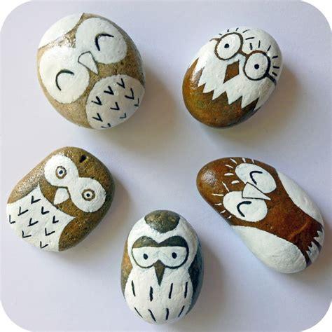 imagenes para pintar en piedras piedras pintadas para decorar vuestra casa de forma original