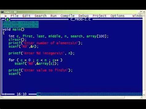 Search C C Program For Binary Search